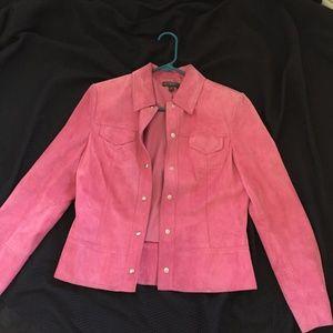 Classiques Entier Pink Suede Crop Jacket 4